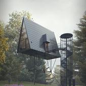 PAN Treetop Cabins by Espen Surnevik (сделано по референсу)