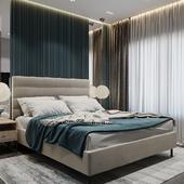 Cтильная и современная спальня для молодой пары