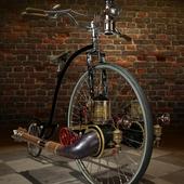 Steampunk penny farthing