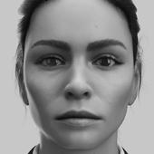 3д портрет девушки
