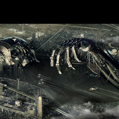 THE FALLEN. Anti-Utopia 3D Art