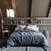 Scandinavian bedroom by reference (сделано по референсу)