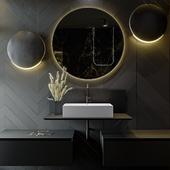 Black&Gold Bathroom / 2019