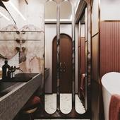Визуализация необычной ванной комнаты