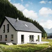 Визуализация дома в скандинавском стиле