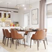 modern classics dining room