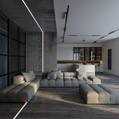 Современный и минималистичный подход к решению интерьера в загородном доме