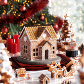 CGI Gingerbread House 3D