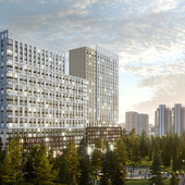 Residential complex in Kyiv. New Avtograf. Second part
