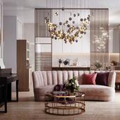 Визуализация кухни-гостиной для Novikova Design, г. Белогород