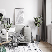 Monochrome Scandinavian interior