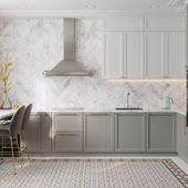 Кухня-гостиная с элементами неоклассики