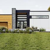Modern home (сделано по референсу)