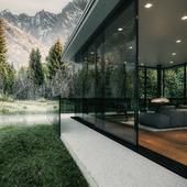 дом в лесу (сделано по уроку)