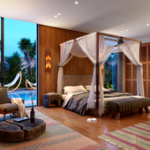 Modern balinese bedroom