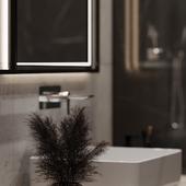 Black bathroom 3