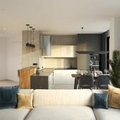 Дизайн интерьера 4-комнатной квартиры в ЖК Тринити, г. Екатеринбург