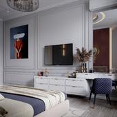 Дизайн интерьера и визуализация в неоклассическом стиле