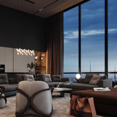 Design of the PentHouse in New York