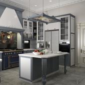 Классическая кухня в частном доме
