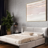Modern bedroom and living