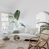 Tropical Living Room (сделано по референсу)