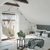 Small Attic Bedroom (сделано по референсу)