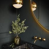 Dark Marble in Bathroom