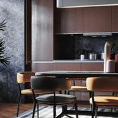 amber kitchen