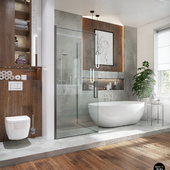 Bath in the Eco-house project