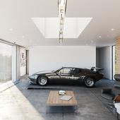 Living room garage space (сделано по референсу)