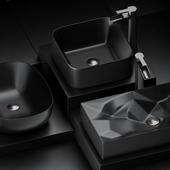 Black sink&faucet