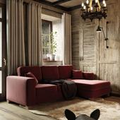 Визуализация комнаты отдыха в гостевом доме