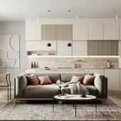 Дизайн-концепт кухни-гостиной