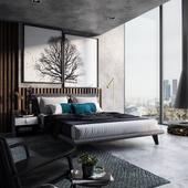 Masculine bedroom (сделано по референсу)