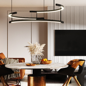 """Design project of kitchen & living area """"Bright morning"""""""