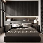 Neutral and cozy bedroom/Нейтральная и уютная спальня.