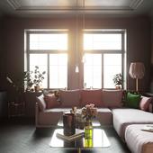 Квартира в Стокгольме (сделано по референсу)