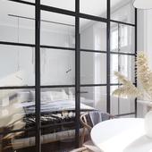 Светлая однокомнатная квартира (сделано по референсу)