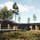 Визуализация концепции загородного дома на берегу Финского залива