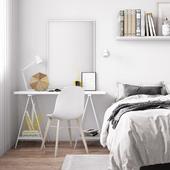 Спальная комната  в скандинавском стиле