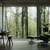Autumn mood forest interior design