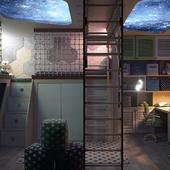 Детская комната для двух мужчин дошкольного возраста