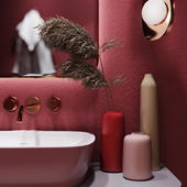 bathroom in red (сделано по референсу)