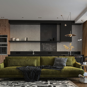 Studio apartment design-concept
