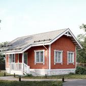 Загородный дом в скандинавском стиле.