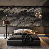 Спальня со скалой