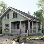 3D визуализация дачного дома