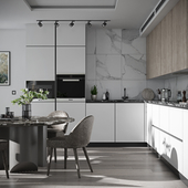 Kitchen in a contemporary style (сделано по референсу)