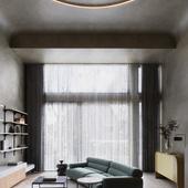 Brutalist living room (сделано по референсу)